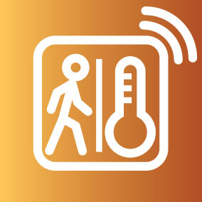 motion-and heat-detecting sensor