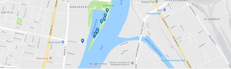 Kikapcsolódás a BudaParton - Térkép