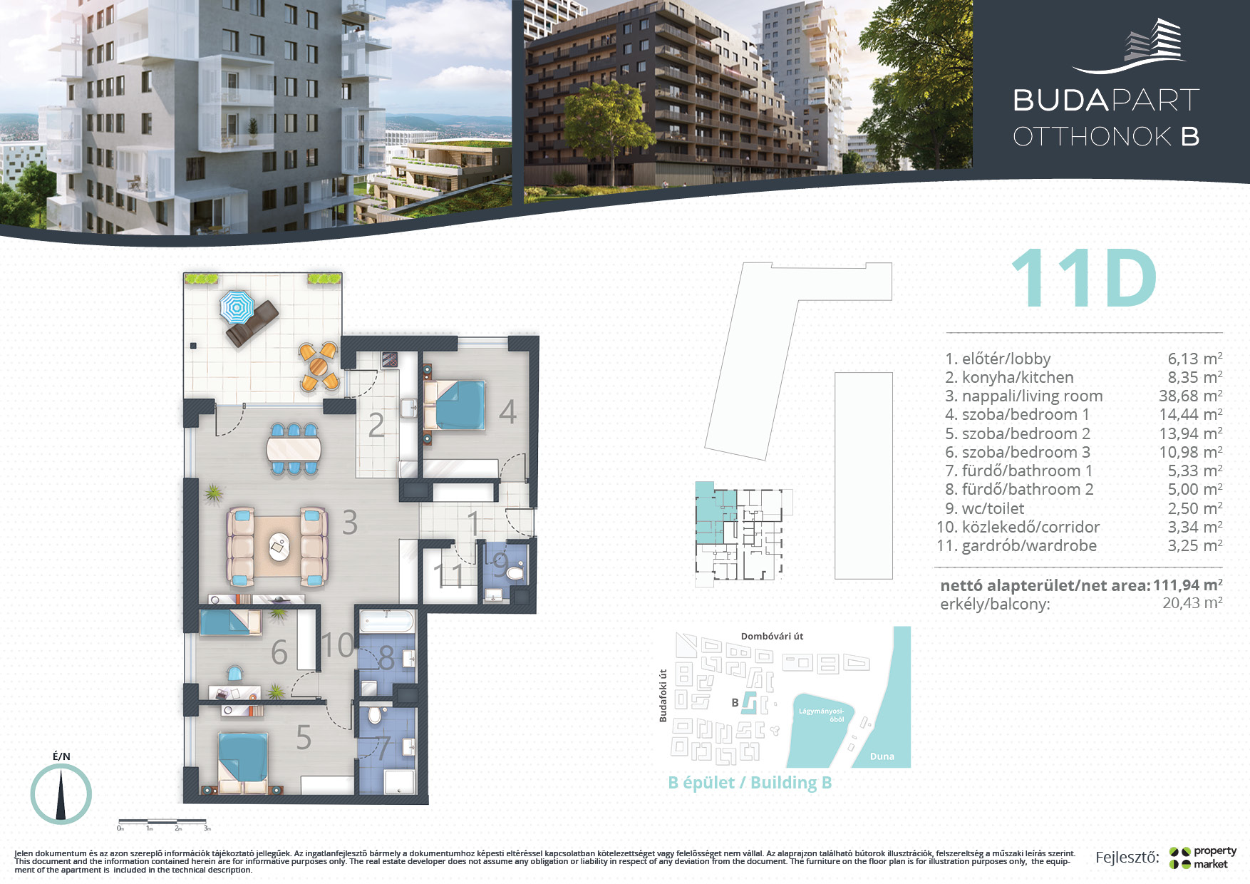 Lakás száma: BRB_C.11.03