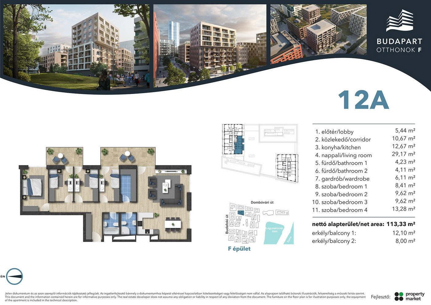 Lakás száma: BRF_A.08.01