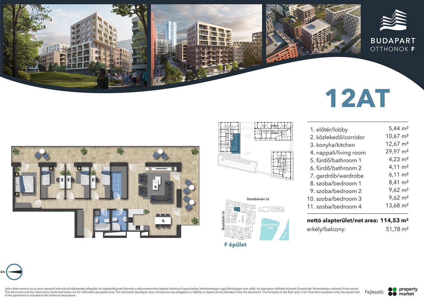 Lakás száma: BRF_A.05.01