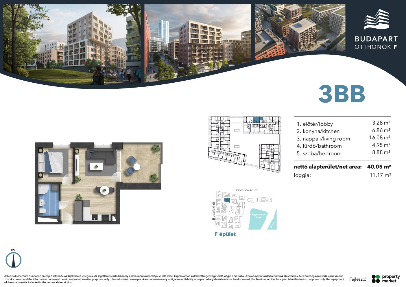 Lakás száma: BRF_B.01.07