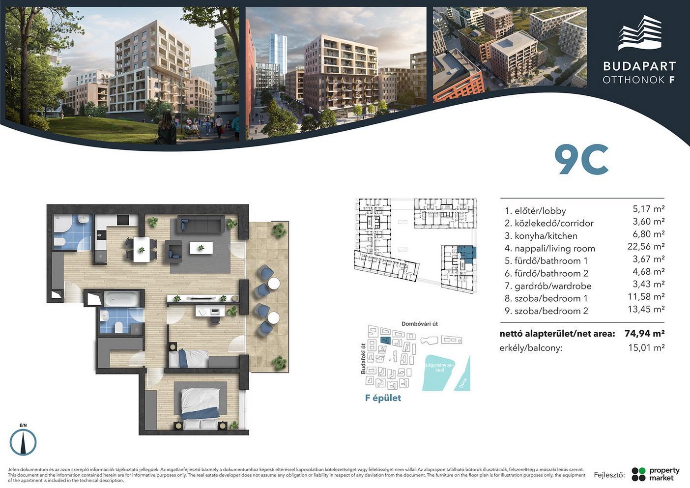 Lakás száma: BRF_C.04.05